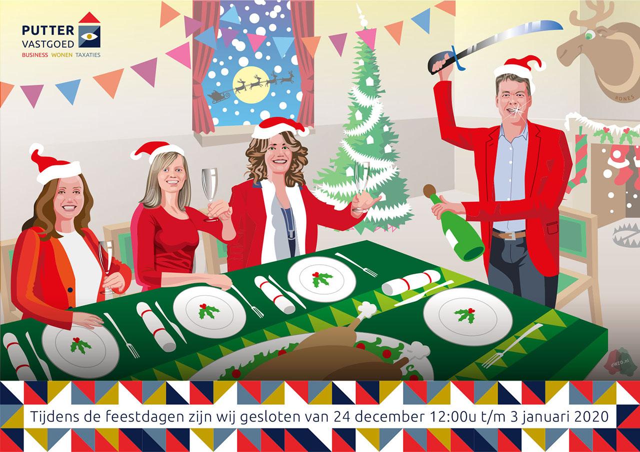 Bewegende kerstkaart, Kerst Shop